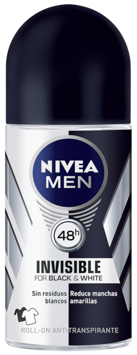 Men Invisible for Black & White Deo Roll-On