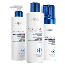 Set Serioxyl Fuller Hair Programa Antiafinamiento Cabello Coloreado